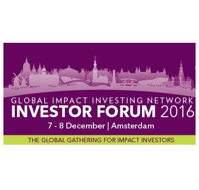Sonen Panel Discussion on Impact Investing Data at GIIN 2016